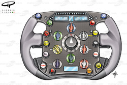 Ferrari F2008 steering wheel