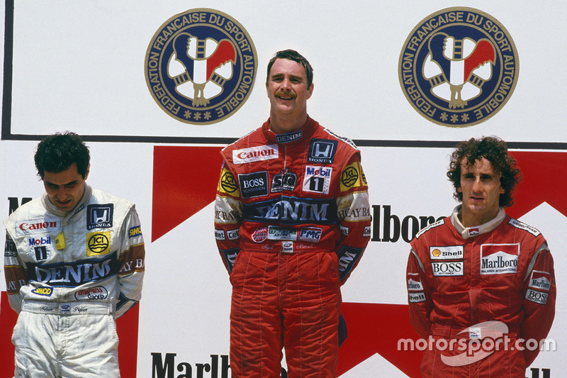 7. GP de Francia 1987: Nigel Mansell (Williams) y Nelson Piquet (Williams)