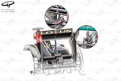 Заднее антикрыло Lotus E21 с системой DRS