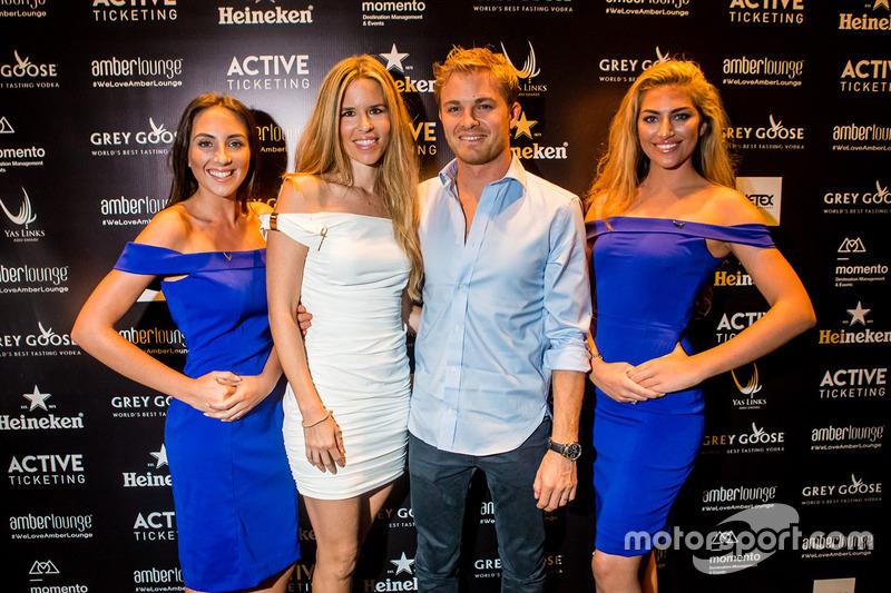 Nico Rosberg, Mercedes AMG F1 con su mujer Vivian Rosberg