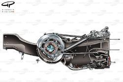 Boîte de vitesses et la suspension arrière de la Ferrari 150° Italia