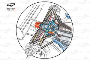 Ferrari F2002 (653) 2002 rear suspension detail