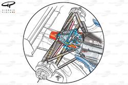 Suspension arrière de la Ferrari F2002 (653)