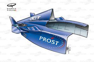 Prost AP04 2001, carrozzeria posteriore
