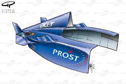 Carrosserie à l'arrière de la Prost AP04