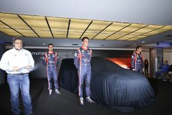 Hayden Paddon, Daniel Sordo, Thierry Neuville, Hyundai Motorsport unveil the 2017 Hyundai i20 Coupe