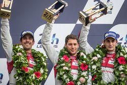 LMP1 podium: third place #8 Audi Sport Team Joest Audi R18: Lucas di Grassi, Loic Duval, Oliver Jarvis