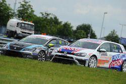 Davit Kajaia, Volkswagen Golf GTI TCR Liqui Moly Team Engstler, Dusan Borkovic, Seat Leon B3 Racing Ungheria