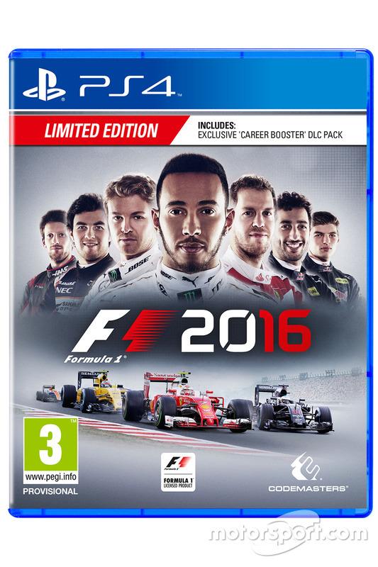 La copertina di F1 2016 per PS4