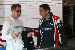 #9 Graff Racing Ligier JS P3 - Nissan: Eric Trouillet and Pascal Rauturier, Team manager