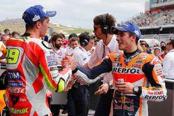 Il vincitore della gara Marc Marquez, Repsol Honda Team, terzo Andrea Iannone, Ducati Team