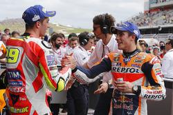 Le vainqueur Marc Marquez, Repsol Honda Team, et le troisième Andrea Iannone, Ducati Team