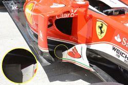 Ferrari SF16-H, placas de barcaza