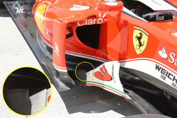 Un déflecteur latéral de la Ferrari SF16-H