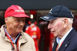 (L to R): Niki Lauda, Mercedes Non-Executive Chairman with John Surtees