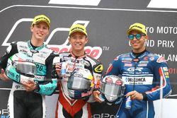 Podium: ganador, Khairul Idham Pawi, Honda Team Asia, segundo, Andrea Locatelli, Leopard Racing, ter