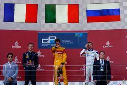 Podium: race winner Antonio Giovinazzi, PREMA Racing, second place Pierre Gasly, PREMA Racing & third place Sergey Sirotkin, ART Grand Prix