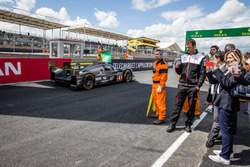 Practice session starts: #4 ByKolles Racing CLM P1/01: Simon Trummer, Pierre Kaffer, Oliver Webb sho