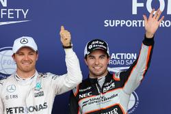Nico Rosberg, Mercedes AMG F1 Team and Sergio Perez, Sahara Force India