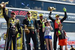 Top Fuel winner Tony Schumacher, Pro Stock winner Chris McGaha, Funny Car winner Matt Hagan, Pro Sto