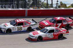 Denny Hamlin, Joe Gibbs Racing Toyota, Justin Allgaier, JR Motorsports Chevrolet, Ty Dillon, Richard