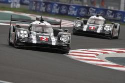 #2 Porsche Team Porsche 919 Hybrid: Romain Dumas, Neel Jani, Marc Lieb; #1 Porsche Team Porsche 919