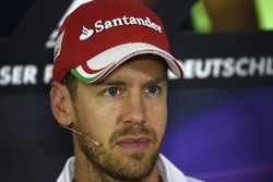 Sebastian Vettel, Ferrari during the press conference