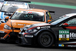 Crash: Vincent Radermecker, Milo Racing, VW Golf GTI TCR; Kai Jordan, JBR Motorsport, VW Golf GTI TC