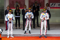 Podium: race winner Nobuharu Matsushita, ART Grand Prix, second place Marvin Kirchhofer, Carlin, third place Raffaele Marciello, RUSSIAN TIME
