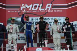 Gara 2 podio SGTCup: Necchi-De Lorenzi, GDL, Lamborghini Huracan S.GTCup #111, Davide Roda, Petri co