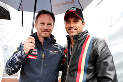 Christian Horner, team principal Red Bull Racing et Patrick Dempsey, acteur