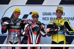 Podium: winner Sam Lowes, Federal Oil Gresini Moto2, second place Jonas Folger, Dynavolt IntactGP, third place Alex Rins, Paginas Amarillas HP 40