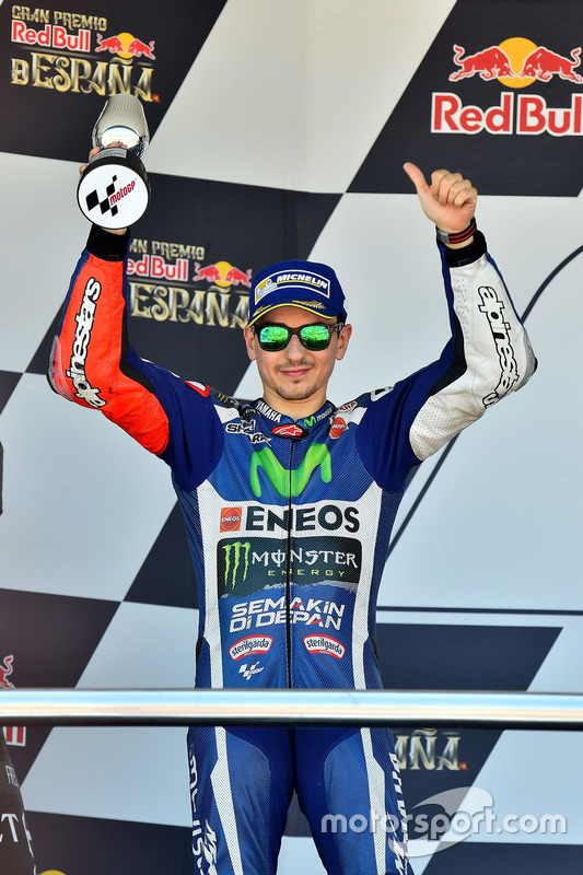 Podium: Jorge Lorenzo, Yamaha Factory Racing