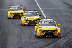 MAC3 Calificación, Gabriele Tarquini, LADA Sport Rosneft, Lada Vesta; Hugo Valente, LADA Sport Rosne