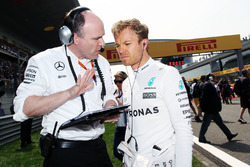 Nico Rosberg, Mercedes AMG F1 Team sur la grille