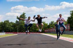 Alex Palou, Campos Racing; Steijn Schothorst, Campos Racing y Konstantin Tereschenko, Campos Racing