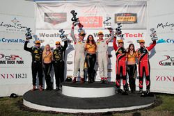 Podium: Race winner #8 Starworks Motorsports ORECA FLM09: Renger van der Zande, Alex Popow; second place #52 PR1 Mathiasen Motorsports ORECA FLM09: Robert Alon, Tom Kimber-Smith; third place #38 Performance Tech Motorsports ORECA FLM09: James French, Kyle Marcelli