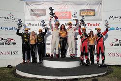 Podium: Sieger #8 Starworks Motorsports, ORECA FLM09: Renger van der Zande, Alex Popow; 2. #52 PR1 M