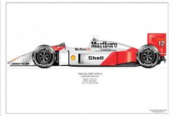 Arte en el McLaren MP4/4 1988 de Ayrton Senna