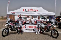 CS Santosh, Hero MotoSports Team Rally; Joaquim Rodrigues, Hero MotoSports Team Rally; Wolfgang Fisc