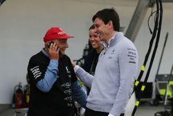 Niki Lauda en Toto Wolff, Mercedes AMG F1