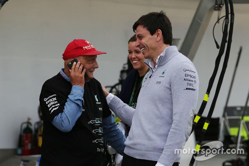 Niki Lauda, Mercedes con Toto Wolff, Mercedes AMG F1