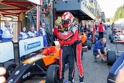 Race winner Hugo De Sadeleer, Tech 1 Racing with second place Dorian Boccolacci, Tech 1 Racing