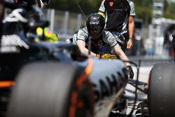 Серхио Перес, Sahara Force India F1 VJM09. Тренировка пит-стопа