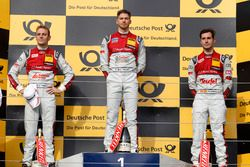 Podium: Race winner Edoardo Mortara Audi Sport Team Abt Sportsline, Audi RS 5 DTM; second place Jamie Green Audi Sport Team Rosberg, Audi RS 5 DTM; third place Miguel Molina Audi Sport Team Abt Sportsline, Audi RS 5 DTM
