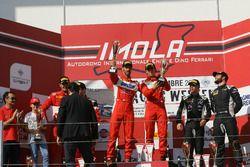 Gara 1, podio GT3: al secondo posto Casè-Tempesta, Scuderia Baldini 27 Network, i vincitori Leo-Chee
