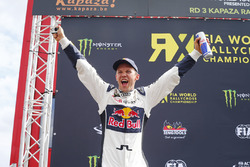 Podium: winner Mattias Ekström, EKS RX