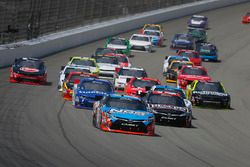 Restart: Kyle Busch, Joe Gibbs Racing Toyota leads