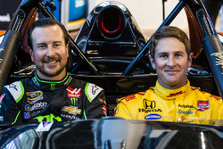 Kurt Busch and Ryan Hunter-Reay in the Radical car that will participate in the 2017 Race of Champions in Miami at the Marlins Park