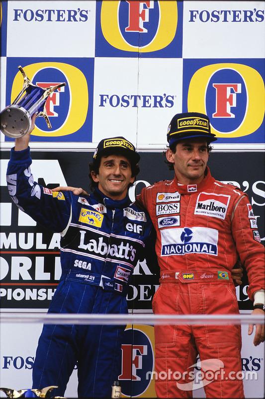 Podyum: 1. Ayrton Senna, McLaren; 2. Alain Prost, Williams